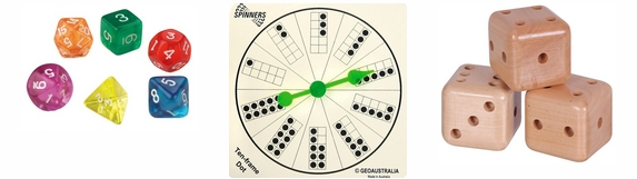 Spinners and Dice