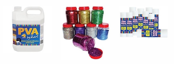 Glues, Pastes and Glitter