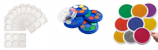 Paint Trays, Palettes, Pads, Pots and Stampers