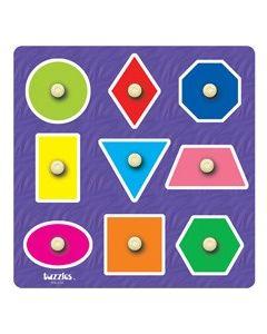 Knobbed Nine Shapes Puzzle 9pcs