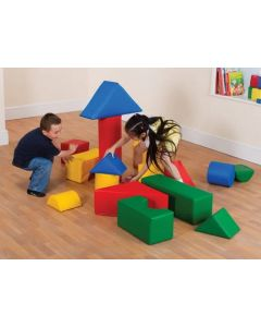 Softplay Activity Blocks Set with Storage Bag 16pcs