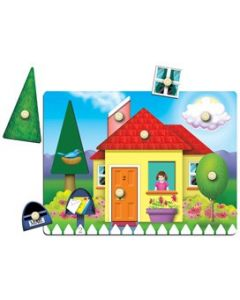Knobbed House Reveal Puzzle 8pcs