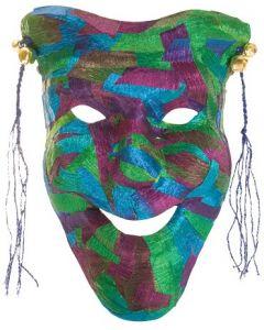 Papier Mache Comedy Mask