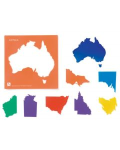 Stencils and Tracers Australian States 16pcs