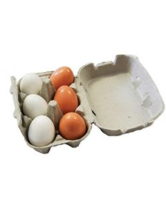 Wooden Eggs 6pcs