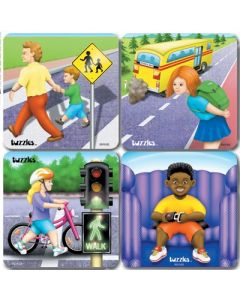 Road Safety Raised Puzzle Set of 4