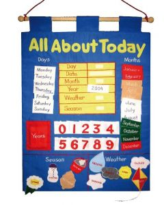 All About Today Fabric Wall Chart