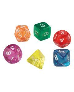 Dice Polyhedra Numbered 72pcs