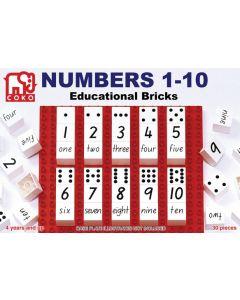 Coko Numbers 1-10 Bricks 30pcs