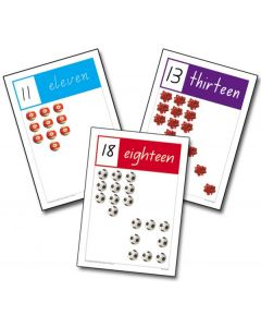 A4 Number Cards 11-20 Victoria