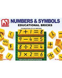 Coko Numbers and Symbols Bricks 36pcs
