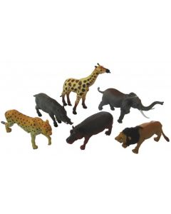 African Animals Medium 6pcs