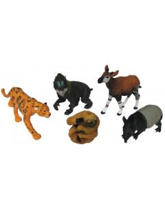 Rainforest Animals Medium 5pcs