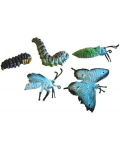 Life Cycle Butterfly Replicas 5pcs