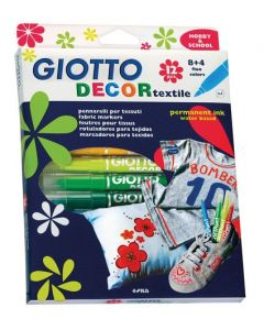 Giotto Fabric Markers 12pcs