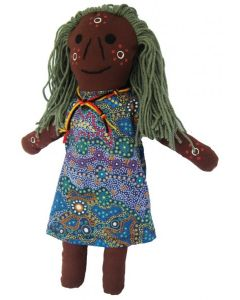 Aboriginal Elder Aunty Doll 36cmH