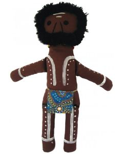Aboriginal Warrior Doll 36cmH