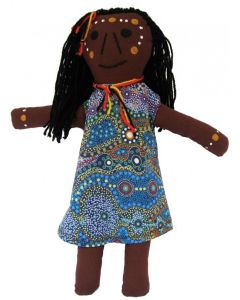 Aboriginal Girl Doll 36cmH