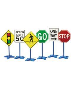 Large Plastic Traffic Signs 6pcs