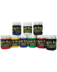 Face Paints Set of Nine Bright Colours 250ml