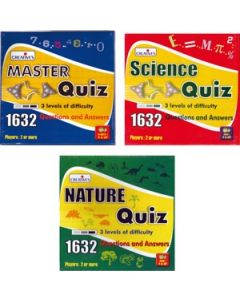 Quiz Game Pack Set of 3 Nature, Science, Master