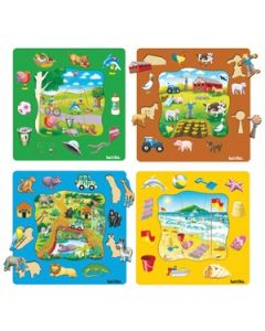 Places to Visit Puzzles Set of 4