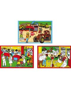 People at Work Puzzle Set of 3