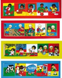 Healthy Eating Sequence Boards Set of 4