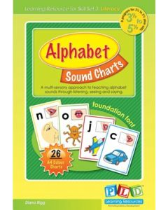 Alphabet Sound Charts Cursive Font 3 1/2 to 5 1/2 Year Olds