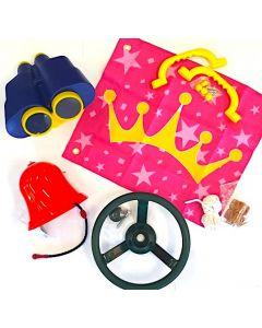 Ship's Bell, Jumbo Binoculars, Steering Wheel, Princess Flag and Grips