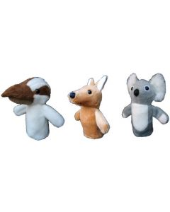 Aussie Animals Finger Puppets 3pcs