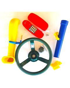 Telescope, Periscope, Steering Wheel and Telephone