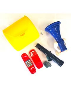 Megaphone, Telephone, Letter Box and Telescope