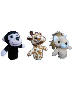 Wild Animals Finger Puppets 3pcs