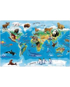 Enormous Animals of the World Floor Puzzle 48pcs