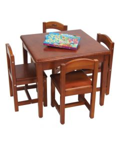 Table and Four Chairs Cedar Finish