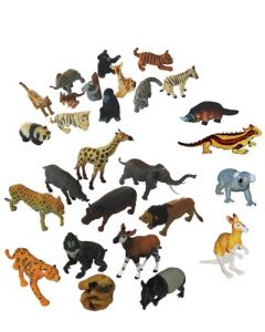 Collection of Aussie, Rainforest, African & Baby Animals 28pcs