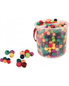 Wooden Coloured Beads 575g