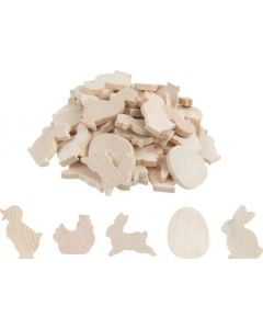 Easter Wooden Shapes 90pcs