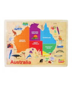 Australian Iconic Map Puzzle 48pcs