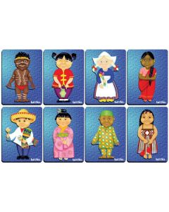 Children of the World (A) Raised Puzzle Set of 8
