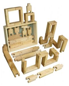 Natural Interlocking Blocks 60pcs