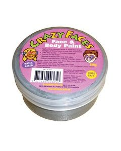 Crazy Face Paint 250ml Metalic Silver
