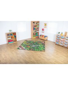 Unique Double-Sided Woodlands Carpet 2m x 2m