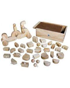 Wooden Geo Block Construction 49pcs