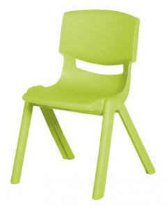Stacking Resin Chair Leaf Green 30cm