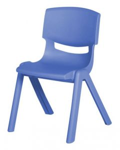 Stacking Resin Chair Sea Blue 45cm