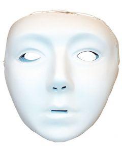 White Plastic Faces 12pcs
