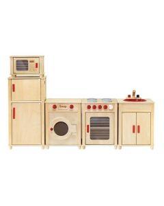 Natural Sink, Stove, Refrigerator, Microwave and Washing Machine Set