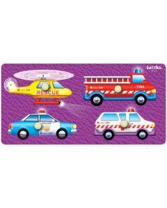 Knobbed Rescue Vehicles Puzzle 4pcs